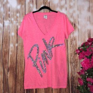 Victoria's Secret Pink Sequin Tshirt